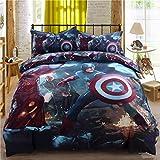 Super Heroes Bedding Set Twin Queen King Size Comforter Sheet Set