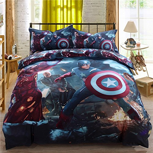 Super Heroes Bedding Set Twin Queen King Size Comforter Sheet Set