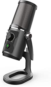 USB Recording Microphone Computer Podcast Condenser Cardioid Mic for PC Laptop Mac with Mute Button & LED Indicator for Vocals, YouTube, Streaming Broadcast, Podcasting, Skype, Gaming