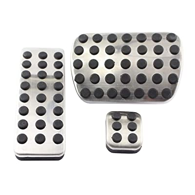 XtremeAmazing Stainless Steel Sport Brake Pedal Pads Cover For A164300082 / A1702900182 / A1644300084 Mercedes Benz 2006-2012 M-Class W164 2007-2013 GL-Class X164 2006-2012 R-Class V251: Automotive