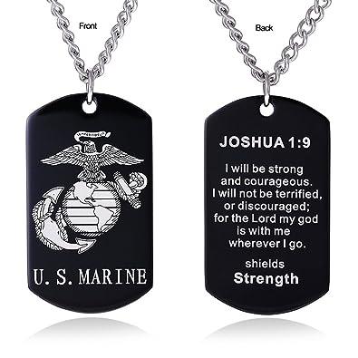 Amazon.com: ZJFHTD USMC - Collar con placa de identificación ...