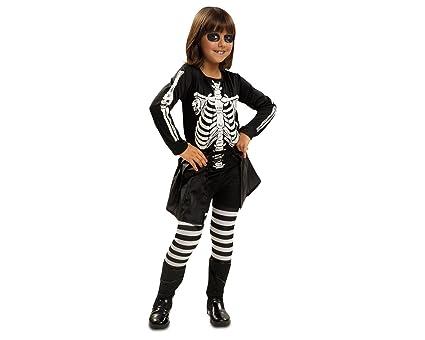 My Other Me Me - Disfraz de esqueleto, para niña de 7-9 años (Viving Costumes MOM00099)