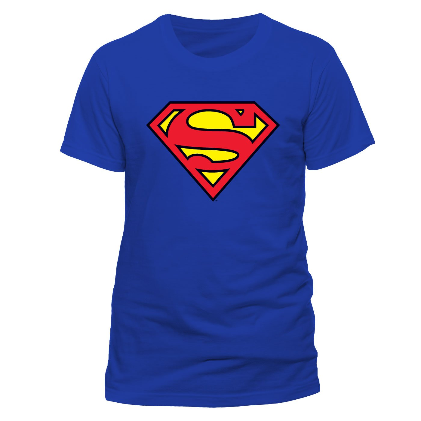 DC Men Superman Logo Crew Neck Short Sleeve T-Shirt DC Comics Pe10759Tscp
