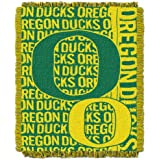 NCAA Oregon Ducks 48 x 60-Inch Double Play Jacquard Triple Woven Throw