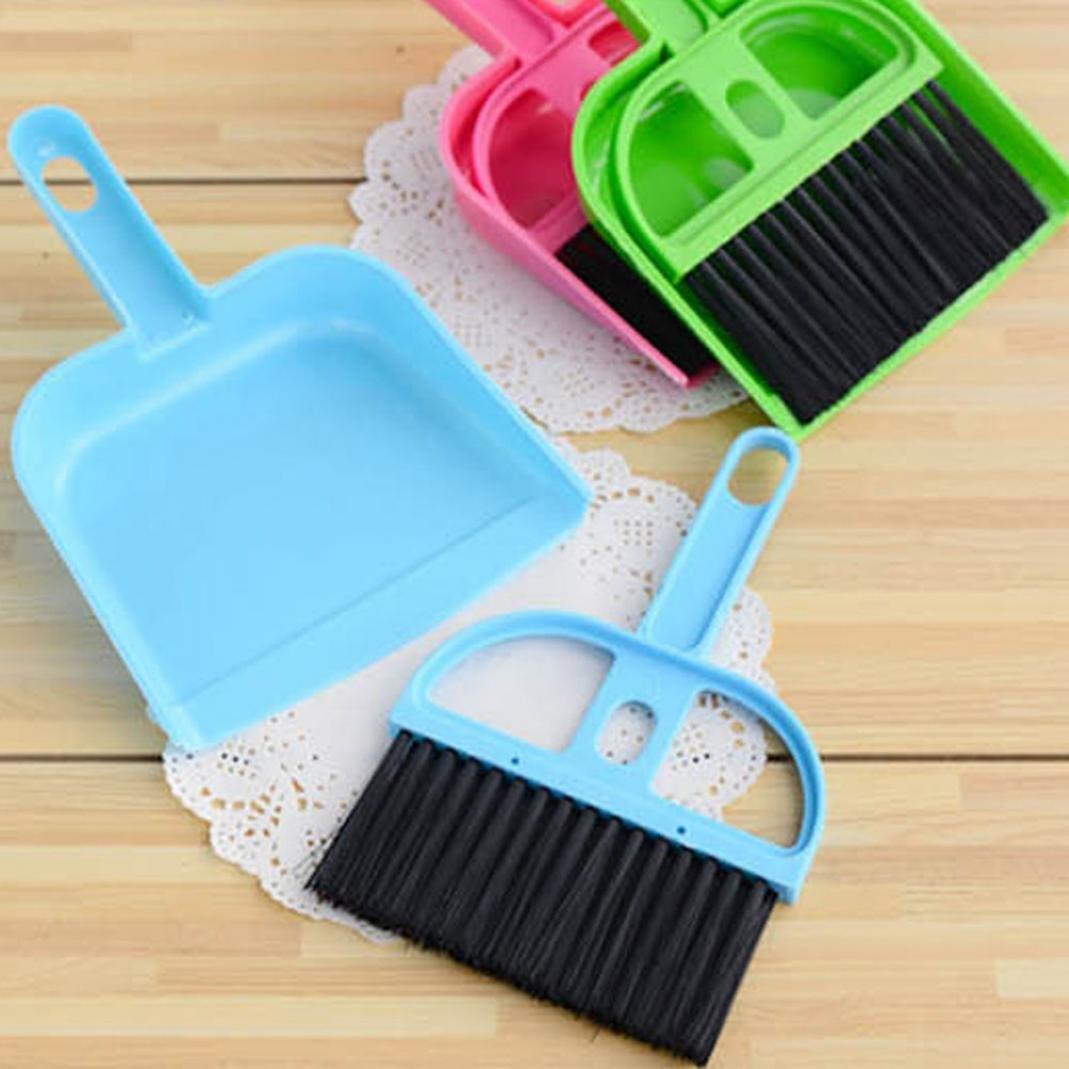 Little rock Mini Plastic Dustpan Brush and Brush Desk Cleaning Sweeper Dust Pan Set by Little rock (Image #2)