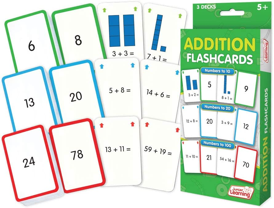 Junior Learning Addition Flash Cards
