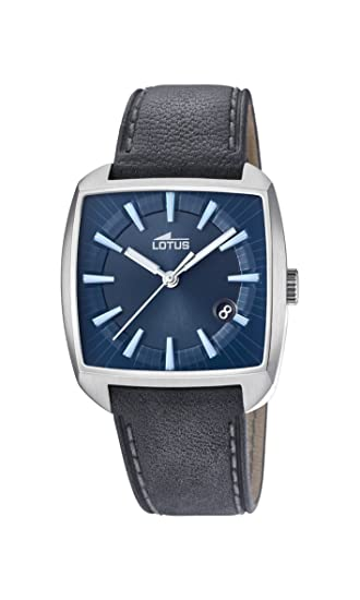 Lotus Watches Reloj Análogo clásico para Hombre de Cuarzo con Correa en Cuero 18519/3: Amazon.es: Relojes