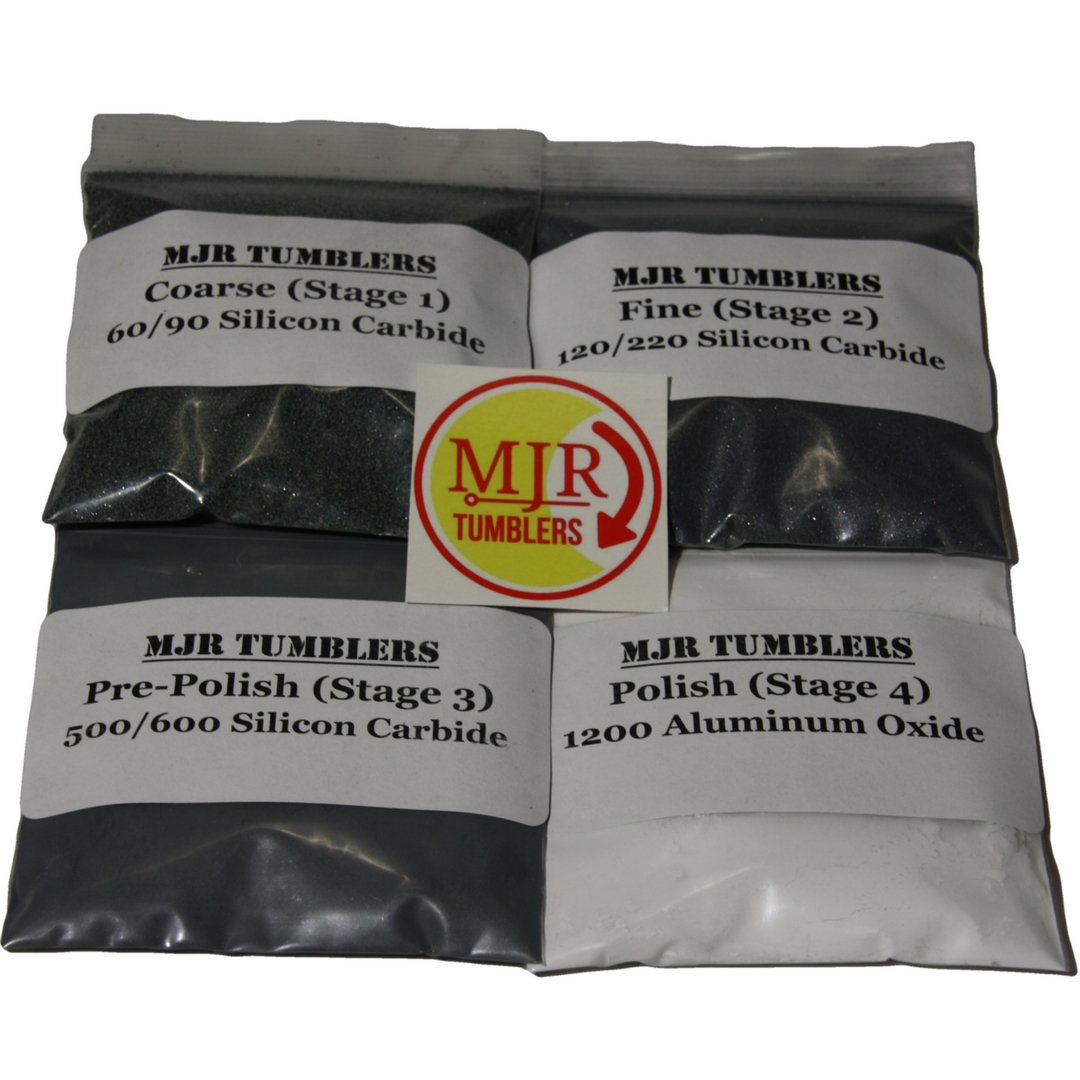 MJR Tumblers Rock Grit Kit for 50 lb Tumbler by MJR Tumblers
