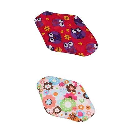 MagiDeal 2 Piezas Toalla Lavable Toalla de Tela de Algodón Menstrual Panty Pad