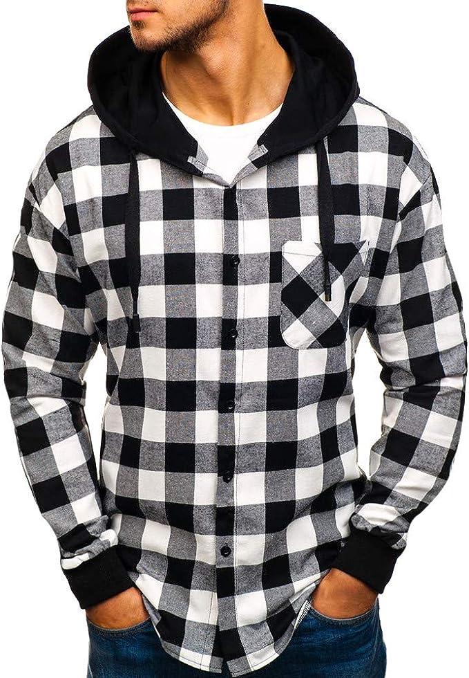 Camicia Uomo Flanella Camicia Camicia Da Lavoro Camicia A Quadri Manica Lunga Giacca in pile