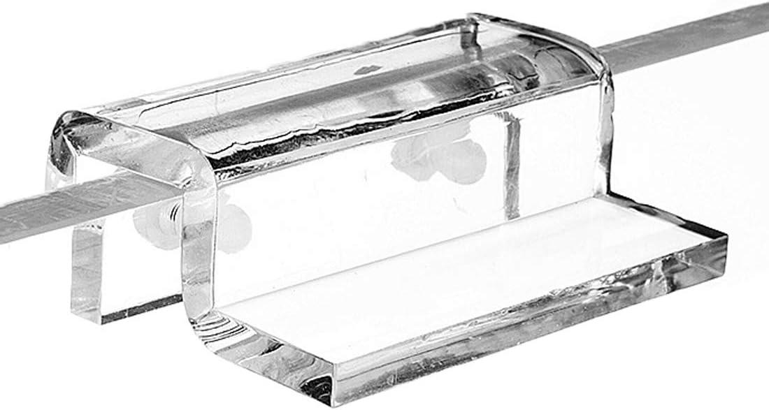 Gurxi 4 Pieces Aquarium Glass Covers Bracket Stainless Steel Aquarium Bracket Aquarium Glass Cover Support Aquarium Glass Cover Clip Aquarium Fish Tank Glass Cover Cip Cover Clip Use Aquarium 6mm
