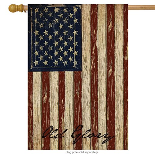 Briarwood Lane Old Glory Patriotic House Flag Vintage American Flag 28