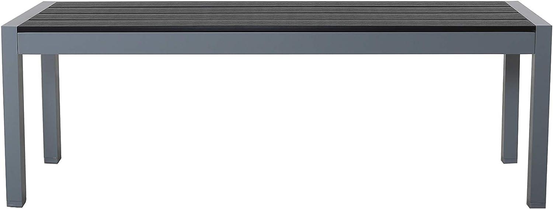 Chicreat - Banco de aluminio para jardín, 135 x 40 x 45 cm (gris plateado): Amazon.es: Jardín