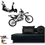 motocross wandtattoo mx rider 81cm wandaufkleber 13. Black Bedroom Furniture Sets. Home Design Ideas