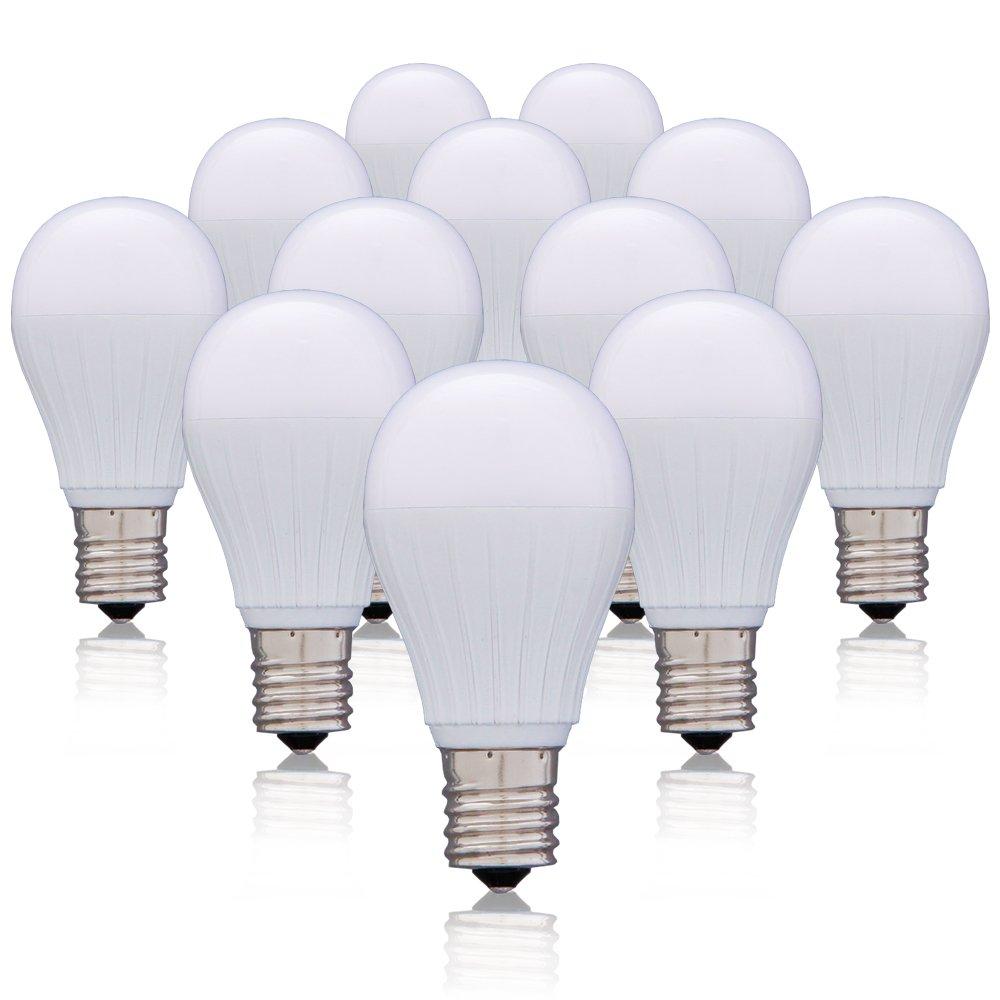 アイリスオーヤマ LED電球 口金直径17mm 50W形相当 昼白色 広配光タイプ 12個セット 密閉形器具対応 LDA5N-G-E17-5T22P B01N3KEDGF 昼白色 50W