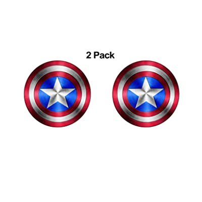 "Foxy21 Captain America Shield Vinyl Sticker DecalSIZES (4"" x 4"") (2): Clothing"