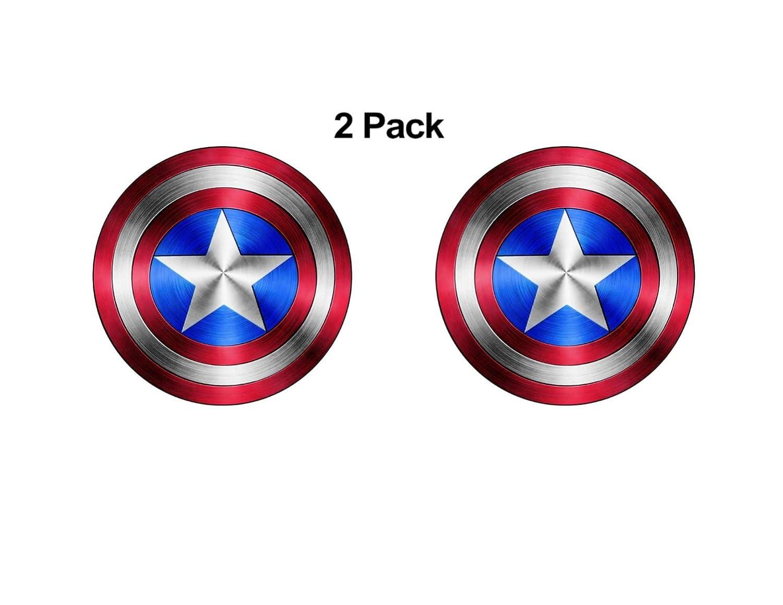 Foxy21 Captain America Shield Vinyl Sticker DecalSIZES 4 x 4