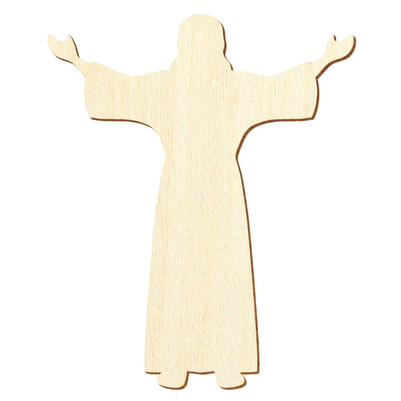 Holz Jesus Christus 3-50cm Streudeko Basteln Deko Wanddeko, Pack Pack Pack mit 50 Stück, Größe 13cm B07Q2BNZ9M | Kompletter Spezifikationsbereich  6a46ce