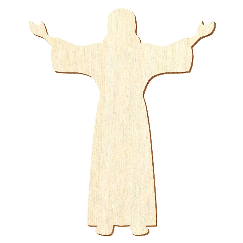 Holz Jesus Christus 3-50cm Streudeko Basteln Deko Wanddeko, Wanddeko, Wanddeko, Pack mit 50 Stück, Größe 13cm B07Q2G4YNX | New Product 2019  541d88