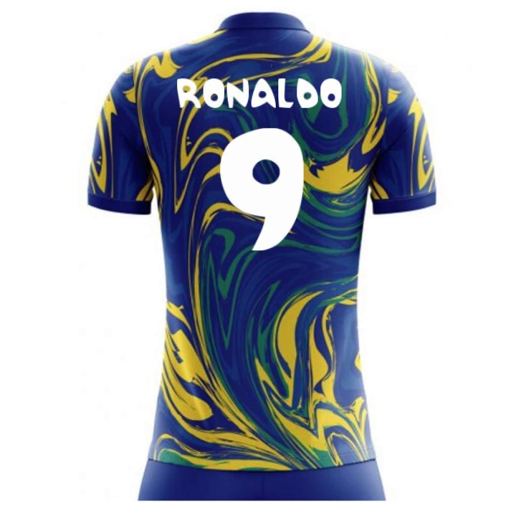 Airo Sportswear 2018-19 Brazil Away Concept Football Soccer T-Shirt Trikot (Ronaldo 9) - Kids