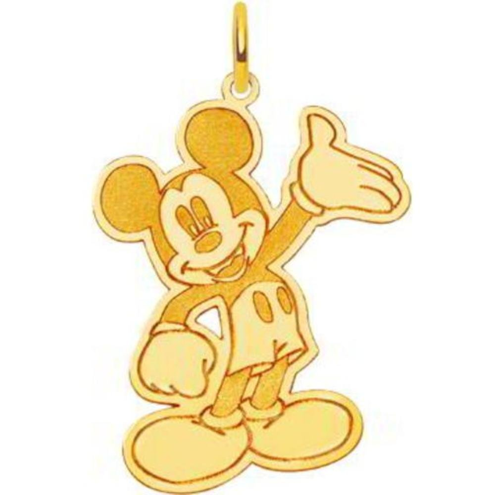 14K Gold Disney Waving Mickey Mouse Charm Jewelry New
