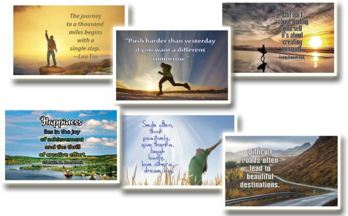 NewEights Inspirational Quotes Postcards Cards (30 Pack) Bulk Collection & Gift wih Inspirational, Motivational,Encouragement Messages