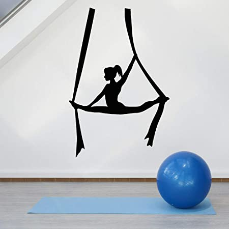 jiushivr Yoga Pose Vinilo Tatuajes de Pared Fly Aerial Yoga ...