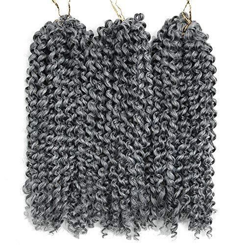 3Pcs/lot Jerry Curl Crochet Braids Hair Extensions Freetress Deep Twist Water Wave For Women Synthetic Crochet Braiding Hair Bundles (10inch,#44)