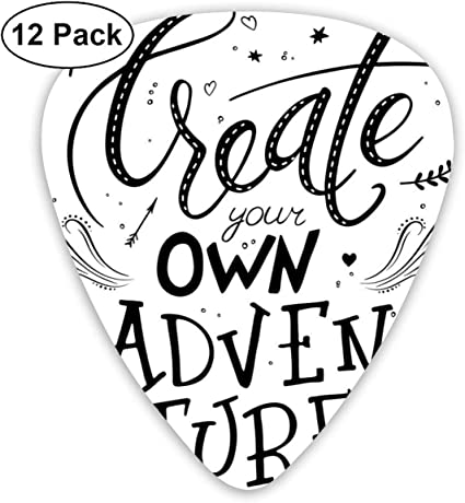 Guitar Picks 12-Pack,Create Your Own Adventure Lettering With ...