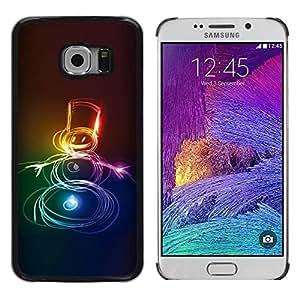 Paccase / SLIM PC / Aliminium Casa Carcasa Funda Case Cover para - Neon Snowman Christmas Xmas Winter - Samsung Galaxy S6 EDGE SM-G925
