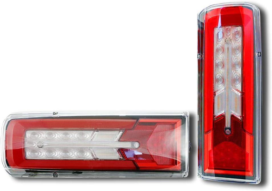Bediffer 2 Pcs 12V Car LED Tail Light Lorry Caravan Stop Indicator Trailer Rear Lamp 46 LEDs Brake Stop Lights For Car Truck Van