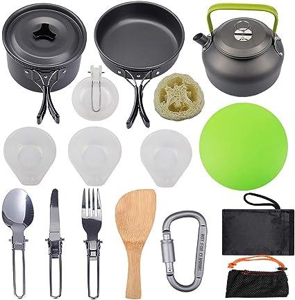 ZLFCRYP Kit De Utensilios Cocina Camping,Equipamiento para ...
