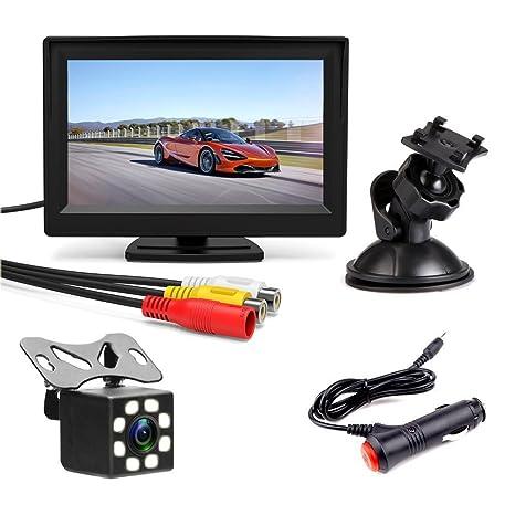 podofo copia de seguridad cámara para coche 5 Inch TFT Color Monitor de visión trasera impermeable