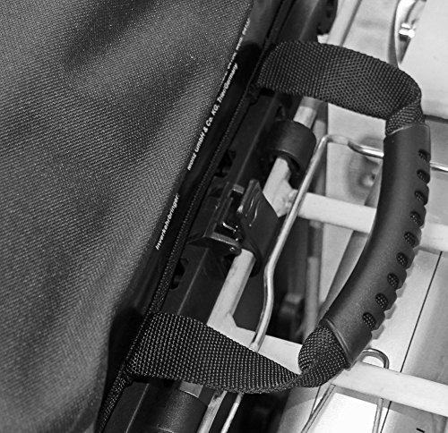 Red Loon Packtasche Gepäcktragertasche Hecktasche wasserdicht silber/schwarz/rot