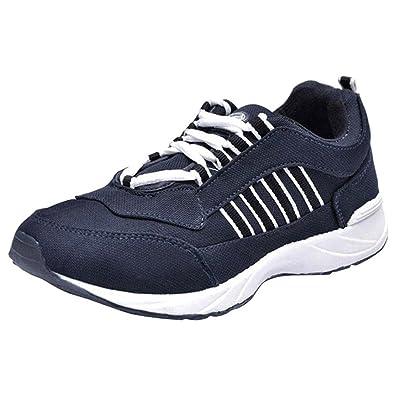 2ff9c34702 Lancer Navy Blue Men's Running Sports Shoes 10 UK: Buy Online at Low ...