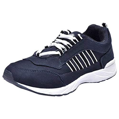 26887e58feb Lancer Navy Blue Men s Running Sports Shoes 10 UK  Buy Online at Low ...