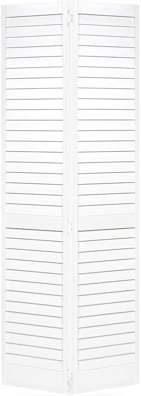 Closet Door, Bi-fold, Louver Louver Plantation White (24x80)