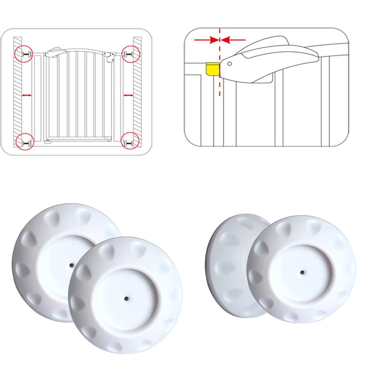 Baby Kinder Sicherheits Wandschutz Pads für Treppenschutzgitter, Türschutzgitter 4pcs/Set (schwarz) Conemi