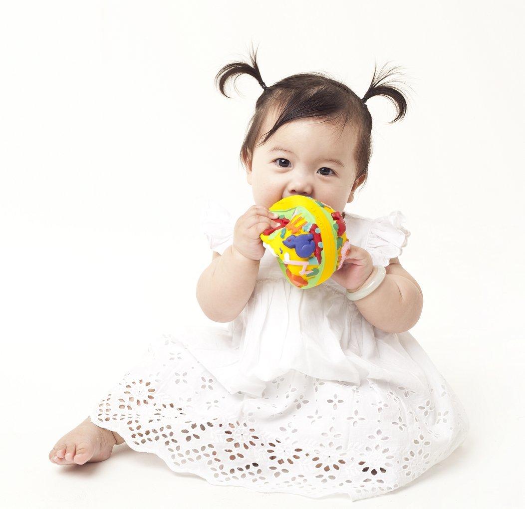 Caucho Natural Bebé pelota de juguete Mordedor Pelota Lili