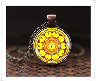 Amazon.com: Solar Plexus Chakra Necklace, Spiritual Yoga ...