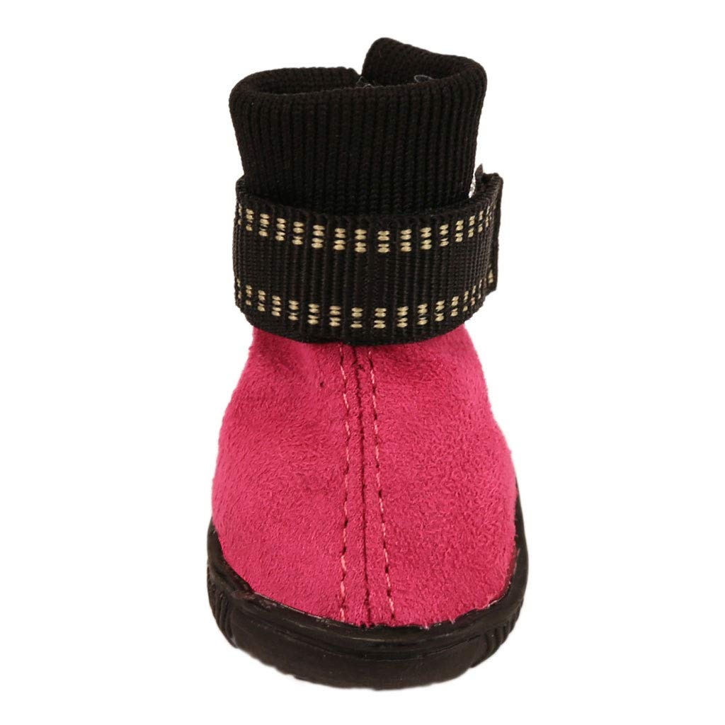 Red 5 Red 5 Puppy shoes Autumn and Winter Dog Boots Candy color Section Warm Cotton shoes Pet Teddy Dog shoes Than Xiong VIP (color   Red, Size   5)