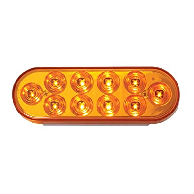Grand General 76860 LED Light (Oval Mega 10 Plus Amber/Amber 10-), 1 Pack: Automotive