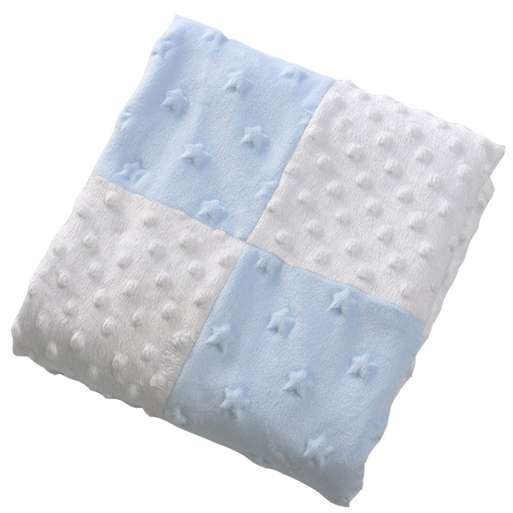 Ultra Soft Toddler Blanket Lightweight Breathable Baby Quilt/Bed Covers Suitable for For Kids 2 Layer Infant Blankets(Blue)