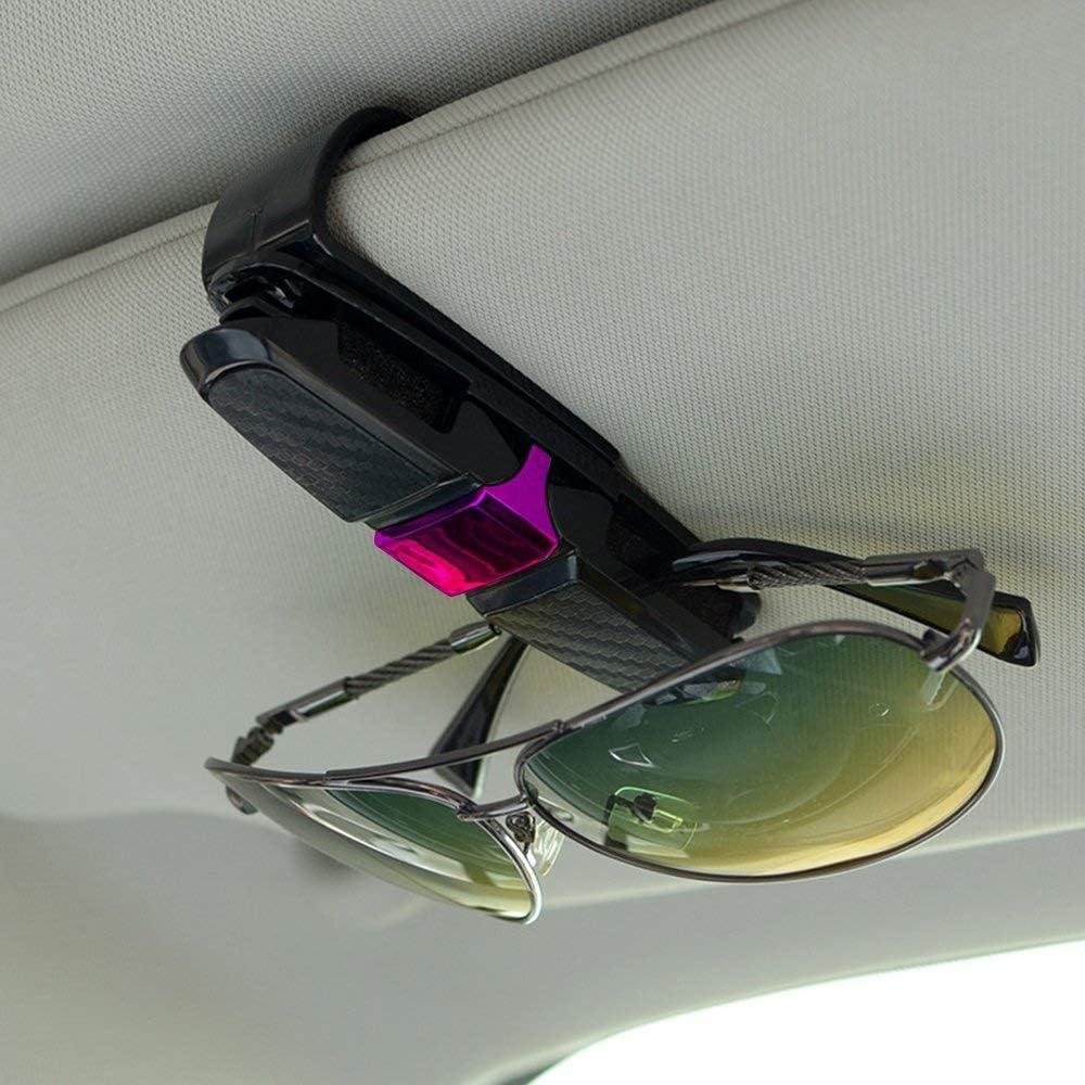 Sonnenbrillen Brillen mit Kartenkarten Clip Zubeh/ör Autozubeh/ör Auto Brillenhalterung Sonnenbrillenhalterung EUFANCE Brillenhalter f/ür Auto Sonnenblende 2 Pack