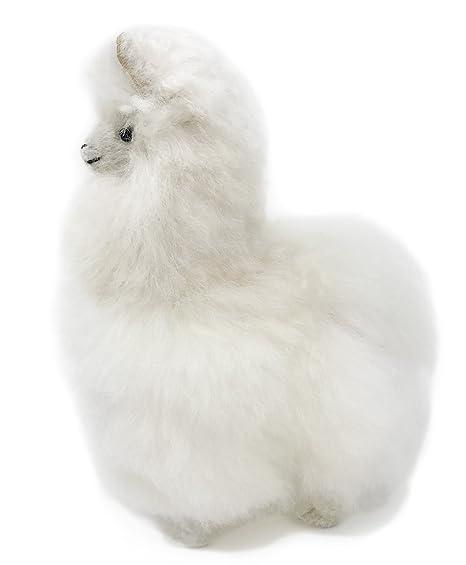 Amazon Com Standing Baby Alpaca Fur Alpaca Yearling Figure