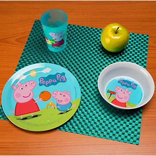 Nick Jr. PEPA-0391 Peppa Pig Melamine Plates 3-piece set by Zak Designs by Zak Designs (Image #6)