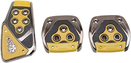 Manual Set Stainless Steel Manual Pedal MT Kit Foot Pedal Covers Three Sets Car Pedals