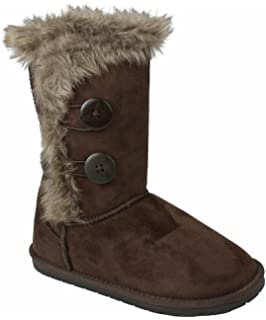Amazon.com | New Girl's Kid's Cute Warm Winter Mid Calf Snow Boots ...