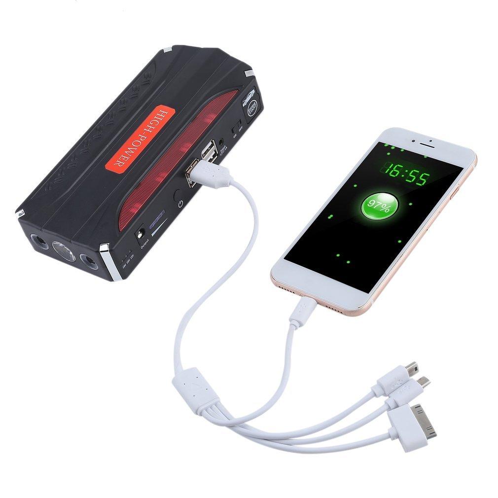Auto Starthilfe 10000mAh Power Bank Auto Jump Starter Batterie Tragbare Fahrzeugbatterie Laden Notfall Booster