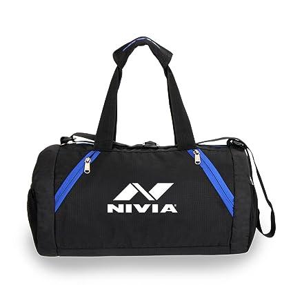 Buy NIVIA  Beast Gym Bag Junior   Black Blue Online at Low Prices in ... 28d16d13fe50f